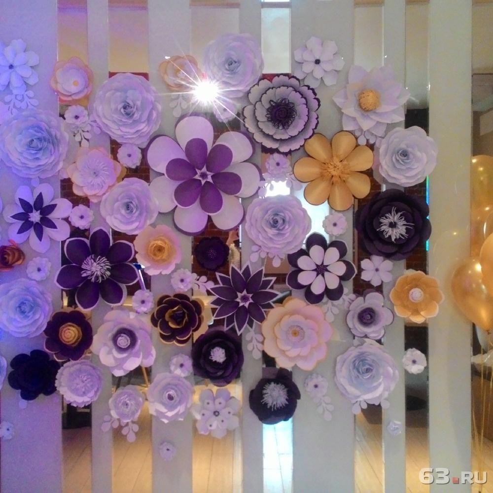 Фото украшения цветами из бумаги своими руками 170