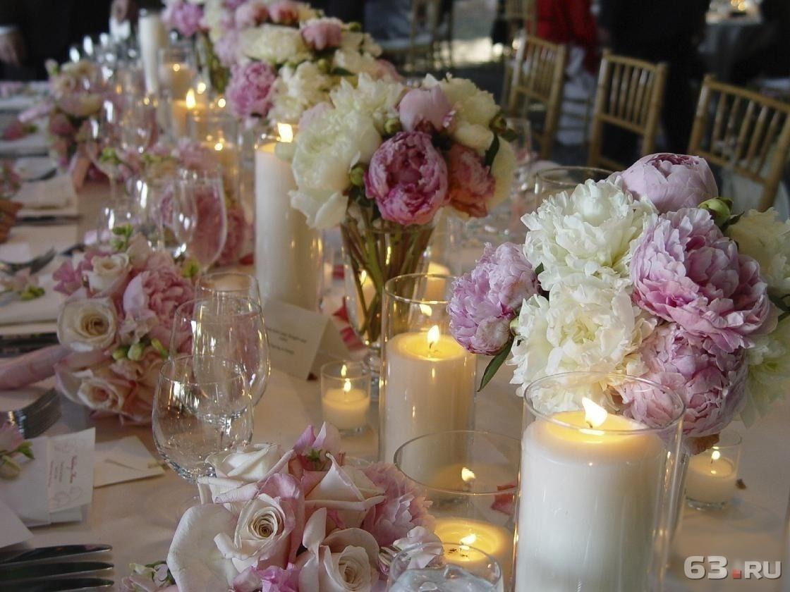 Как можно украсить стол на свадьбу своими руками 55