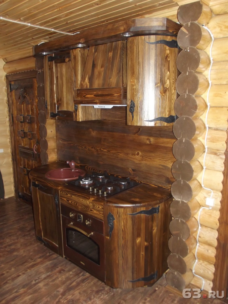 Кухня в баню своими руками