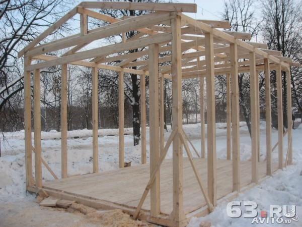 Строительство гаража из доски своими руками