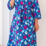 Платье на пуговках фланелевое оптом от производителя «Ева», Самара