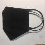 Многоразовая защитная маска двухслойная бязевая чёрная ОПТ, Самара