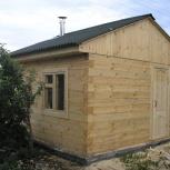 Строительство бани 4,0х4,0м из соснового бруса 100х100 мм, Самара