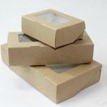 Крафтовая коробка с прозрачной крышкой, Самара