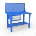 Стол слесарный с экраном и ящиком вст-Н 12/тп1-Э4, Самара