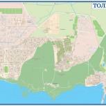 Тольятти - подробная настенная карта, Самара