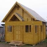 Строительство дома из мини бруса Бальзамин 22 с чердаком и террасой, Самара