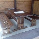 Стол из дерева со скамейками для дома, сада и дачи, Самара