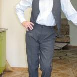 Костюм-тройка мужской выходной серого цвета, Самара