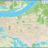 Настенная карта Самары, Самара