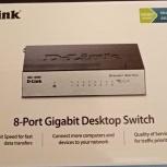 Продам коммутатор 8-портовый D-Link DGS-1008D, Самара