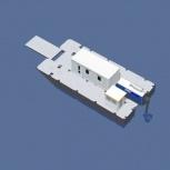 Катамаран грузопассажирский, катамаран для работ на воде, водная вахта, Самара