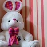 Мягкая игрушка зайчик огромный дизайнерский 150 см, Самара