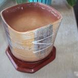 Горшок керамический с поддоном торг, Самара
