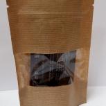 Пакет бумажный крафт дойпак с замком зип лок с прозрачным окном, Самара