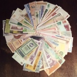 Продаю коллекцию 50 штук разных иностранных банкнот, Самара
