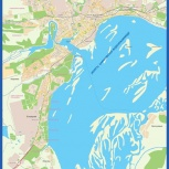 Настенная карта сызрань, Самара