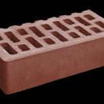 Кирпич ЗСМ рядовой, керамический (красный), пустотелый, марка М150, Самара