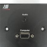 Розетка накладная черная разъем VGA (с Аудио), Самара