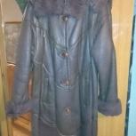 Дубленка женская натуральная, темно-коричневая, Самара