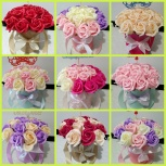Красивые букеты из мыльных роз в наличии!, Самара