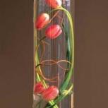 Ваза цветочная высокая цилиндр 1шт торг, Самара