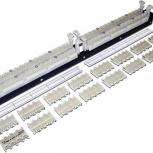 "Парная кросс-панель 110 типа, 19"" 1U с модулями, Самара"