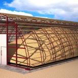 Каркасные конструкции зернохранилища, Самара