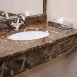 Столешница в ванную из кварцевого агломерата, Самара