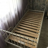 Раздвижная кровать с реечным дном, белый 80x200 см, Самара