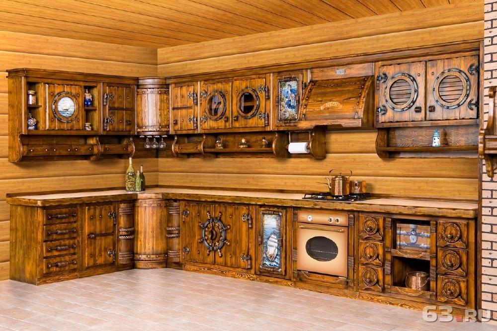 Кухни из массива своими руками