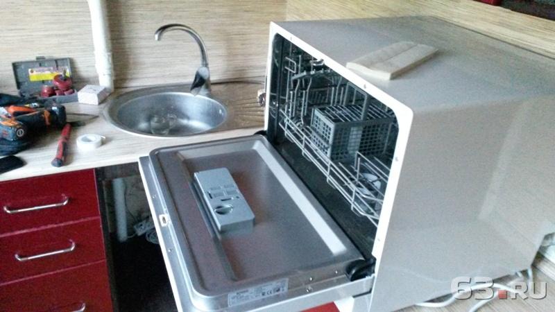 Установка посудомоечных